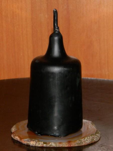 Свеча энергетическая столбик черный с полынью