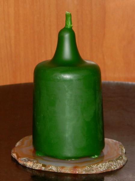 Свеча энергетическая столбик зеленый